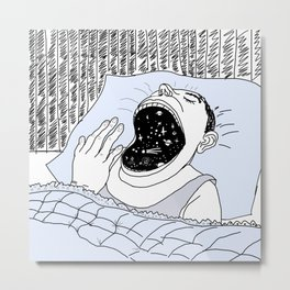 man and the cosmos . artwork Metal Print