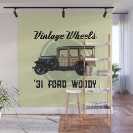 Vintage Wheels - '31 Ford Woody Wall Mural