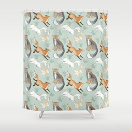 Fox Pattern Shower Curtain