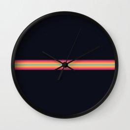 Classic Retro 70s Vintage Style Stripes - Frany Wall Clock