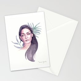 Nora watercolor portrait Stationery Cards