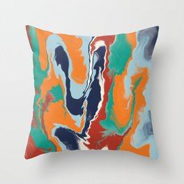 Slithers Of Colour Throw Pillow