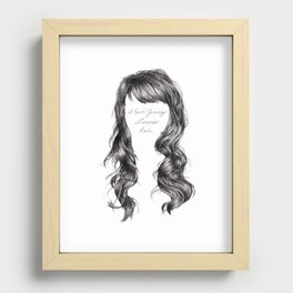 Jenny Lewis's Hair Recessed Framed Print