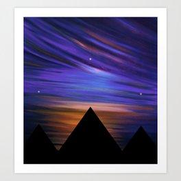 ESCAPE - Pyramids Silhouette Art Print