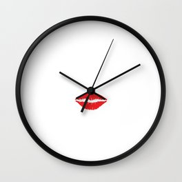 Will Work for Lipstick Style Makeup Fashionista T-Shirt Wall Clock