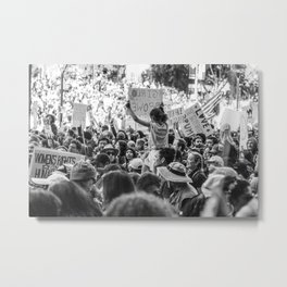 Girl Power in a Crowd - Women's March Street Photography, Los Angeles 2017 Metal Print