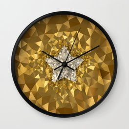 POLYNOID Star / Gold Edition Wall Clock