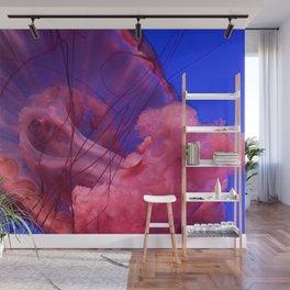 Jellyfish Photography | Pink | Rainbow | Colourful Deep Sea Exploration | Ocean creature Wall Mural