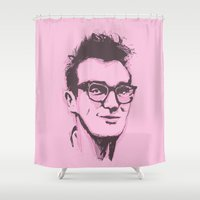 the smiths Shower Curtains featuring Morrissey by 1and9