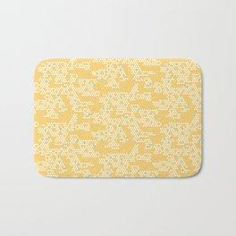 Modern Geometric Triangles - Yellow Bath Mat