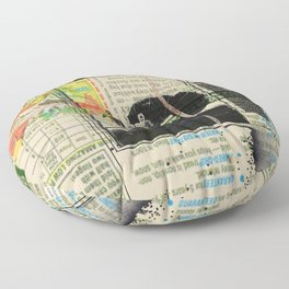 Rauschenberg Rumble (for Hip Kidds) Floor Pillow