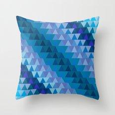 Digital Waves Throw Pillow
