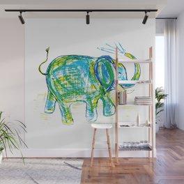 An elephant pattern, elephant illustration, elephant drawing, elephant design Wall Mural