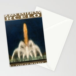 International Exhibition, Barcelona, 1929 the magic fountain (Font de Monjuich). Colour lithograph a Stationery Cards