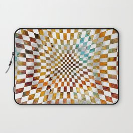 Chessboard Watercolor and gold Laptop Sleeve