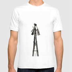 Waiting for Tomorrow White MEDIUM Mens Fitted Tee