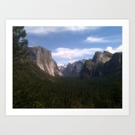 Yosemite National Park jGibney The MUSEUM Gifts Art Print