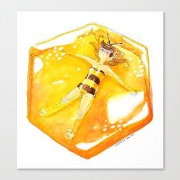 Bee girl Canvas Print
