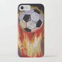 soccer iPhone & iPod Cases featuring Soccer by Michael Creese