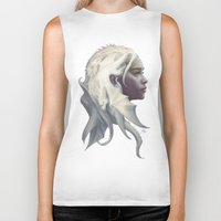 daenerys targaryen Biker Tanks featuring Mother of Dragons by Artgerm™