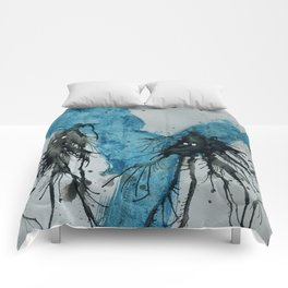 Ink monster- pair Comforters