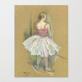 """Henri de Toulouse-Lautrec """"Danseuse en pied. Vue de dos (Standing dancer. Back vue)"""" Canvas Print"""