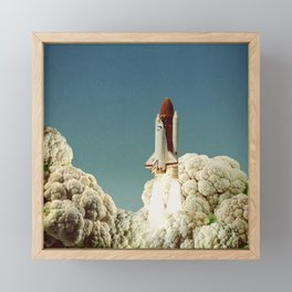 Houston we have cauliflower Framed Mini Art Print