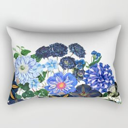 Vintage & Shabby Chic - Blue Flower Summer Meadow Rectangular Pillow