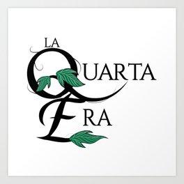 LaQuartaEra_White Art Print