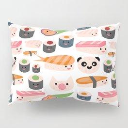 Kawaii sushi white Pillow Sham