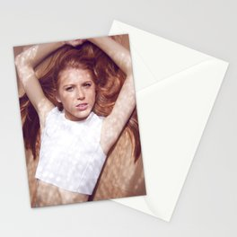 woman on air Stationery Cards