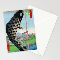Utagawa Hiroshige Suido Bridge and Surugadai Stationery Cards