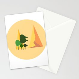Windy mountains Stationery Cards