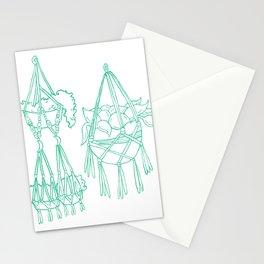 Macrame Plants - Mint on White Stationery Cards