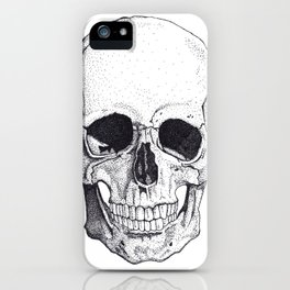 Skull by Carla Marroquín iPhone Case