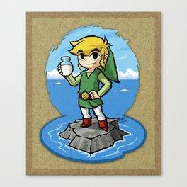 Legend of Zelda Wind Waker Bottle of Milk T-Shirt Canvas Print