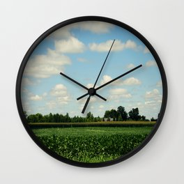 Midwest Field and Sky Wall Clock