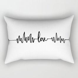 Love Heart Beat Rectangular Pillow