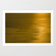 golden brown4 Art Print
