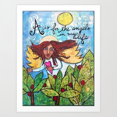 A is for Angels Art Print