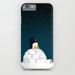 Star gazing - Penguin's dream of flying iPhone Case