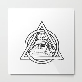 Illuminati Triangle Metal Print