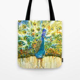 Peacock Pout, painting Tote Bag