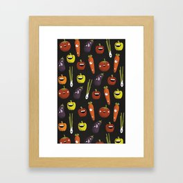 Vegetarian party Framed Art Print