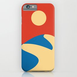 Mid Century Sahara Desert, Mod Wall Art, Contemporary Minimalist Wall Art iPhone Case
