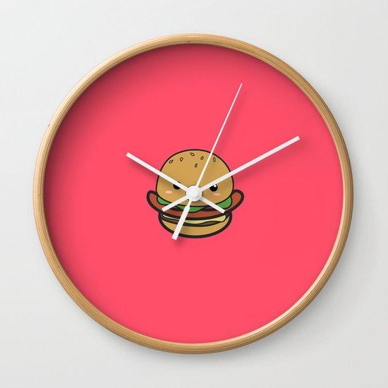 Cute Hamburguer Wall Clock