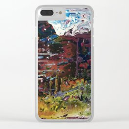 Dreaming in technicolour Clear iPhone Case