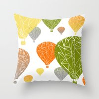 balloons Throw Pillows featuring BALLOONS by ARCHIGRAF