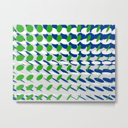elipse grid pattern_blue, green02 Metal Print