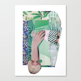 Wanda Goes on Vacation - green modern collage Canvas Print